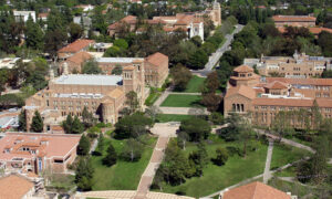 Aerial view of UCLA campus